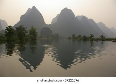 A photo of river, Yangshuo, China.