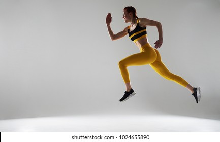 photo of rude sportswoman running