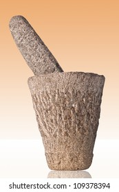 Photo of rugged African mortar and pestle