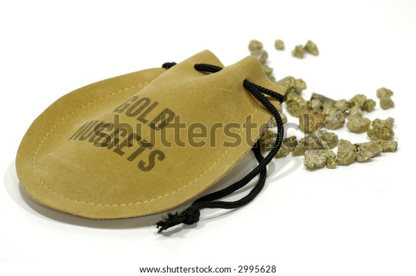 Photo of a Sack and Gold Nuggets - Gold Mining