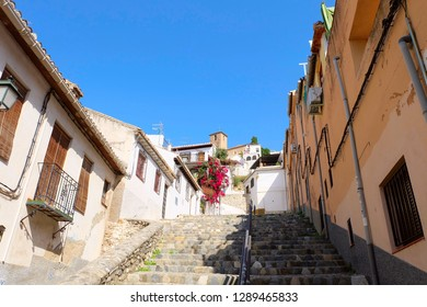 Photo of Sacromonte neighbourhood in a historic center of Granada city, Andalusia region, Spain.