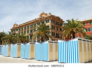 Photo of Santa Margherita beach, province of Genoa, Italy / Beach cabins