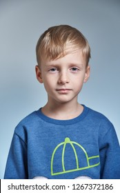 Photo of a schoolboy boy, 7 years old, for student's document
