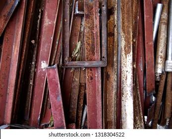 Photo of scrap metal at a junkyard