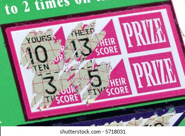 Photo of a Scratched Lottery Ticket