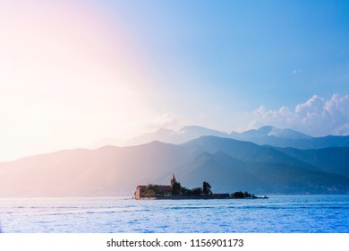 photo of the sea and mountains in Montenegro
