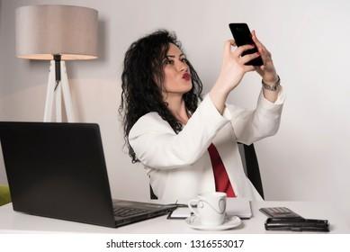 Office Selfies Images Stock Photos Vectors Shutterstock
