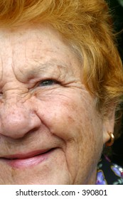 Photo of a senior womans face.