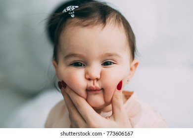 Photo session of a little girl.