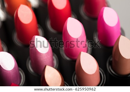 Photo Of Set Of Lipsticks In Colorful Tones