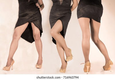 Photo shoot of a woman sexy legs with high heels