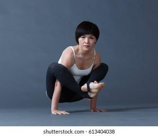 Photo shoot in yoga studio