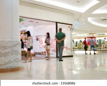 A photo of a shopping mall's interior