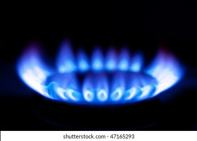 photo shot of flames of gas stove