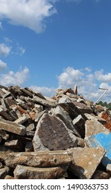 Photo showing pile of crushed concrete. Open space for wording.