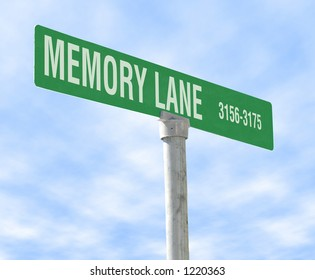 A photo of a sign of Memory Lane