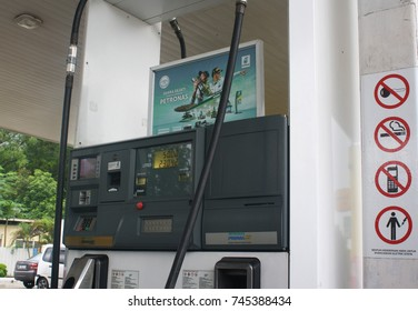 Photo for signs of ban at the Petronas petrol station. Photo taken on October 2017, Photo taken in Kota Kinabalu, Sabah, Malaysia.
