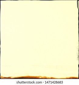 Photo of square format frame with filled plain pale yellow colour for use as background, backdrop or template for card note poem or haiku or double exposure image with blank copyspace