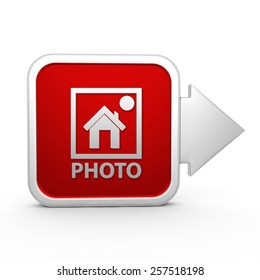 photo square icon on white background