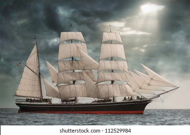 Photo of the Star of India on the high seas