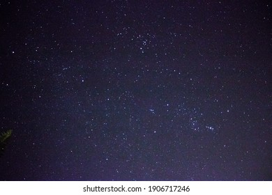 Photo of the stars in a night sky