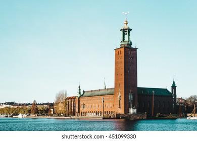 Photo of Stockholm City Hall (Stadhuset) in Stockholm, Sweden
