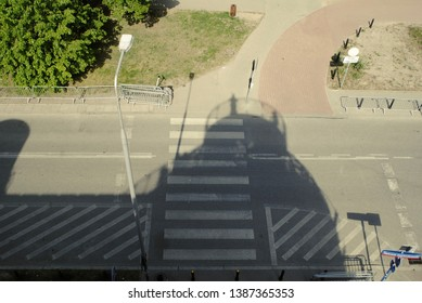 Photo of the street from a bird's flight. Зhoto from a height