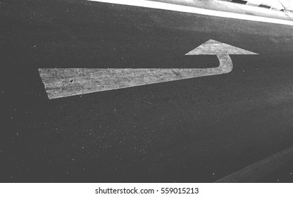 photo of street surface with arrow point forward with selected color