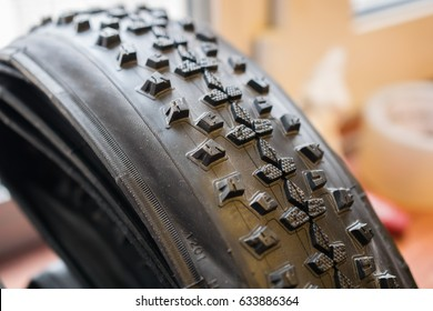 Photo of studded bicycle tire