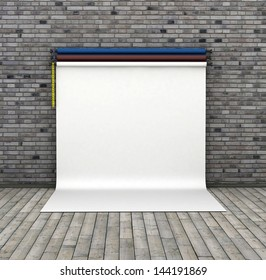 Photo studio background on breaks wall