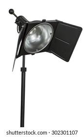 Photo studio lighting equipment, isolated on white background
