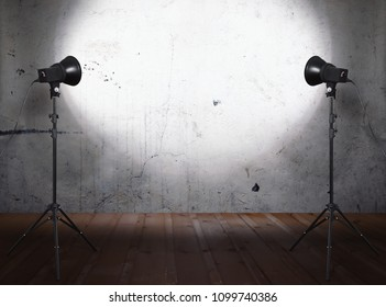 photo studio in old room