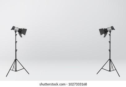 Photo studio on white