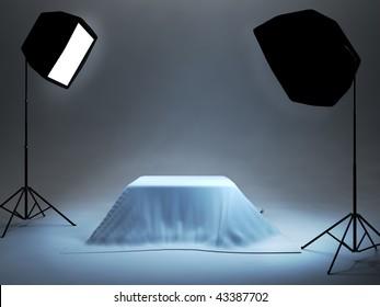 photo studio setup for object photo
