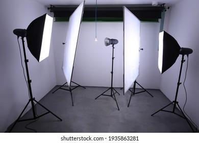 photo studio in a small garage