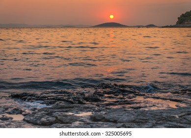Photo of sunset over Kornati Islands, Murter, Croatia