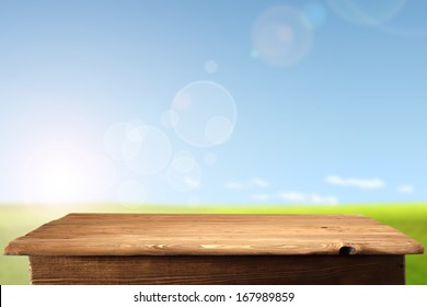 photo of table and sky