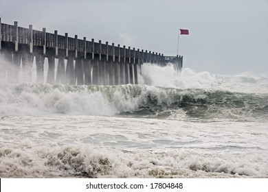 Photo taken amid sea spray and crashing waves as Hurricane Ike's outer bands impact the Florida coast, September 2008. Almost ruined my camera taking this series.