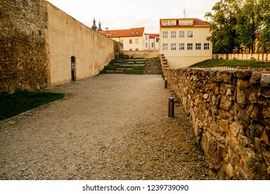 photo taken inside the old fortress in the city of Znojmo, South Moravia, Czech Republic