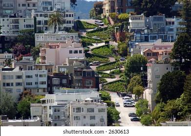Photo taken of Lombard Street San Francisco California