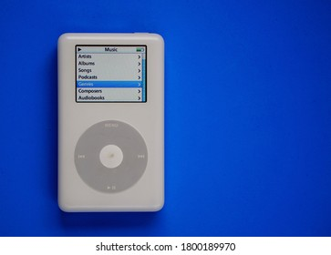 Photo taken on October 21, 2020 in São Paulo - SP, Brazil, of the first Apple iPod launched in 2001.