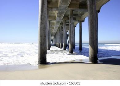Photo taken of pier in Huntington Beach, CA