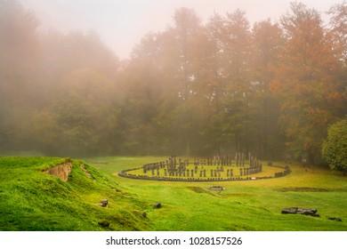 A photo taken at Sarmizegetusa Regia, the old capital of Dacia, Romania