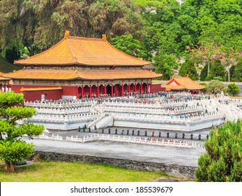 The photo was taken in Splendid China scenic spot ,Shenzhen city, china.The time was 12 April, 2011.Artificial miniature landscape. The Palace Museum of Peking.