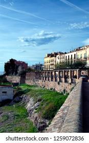 photo taken in Tarragona on 12-15-18 in Tarragona (Spain) view of Paseo San Antonio de Tarragona