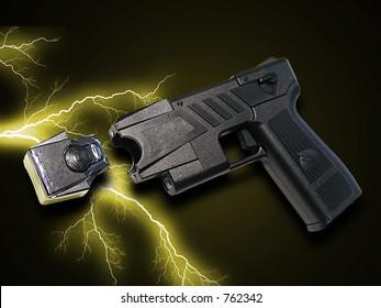A photo of a taser gun