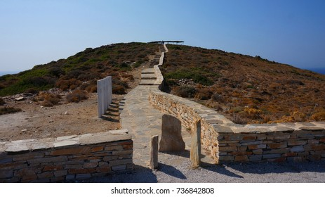Photo from tomb of Homer in Ios island, Cyclades, Greece