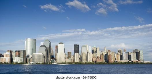 Photo tourism concept downtown Manhattan