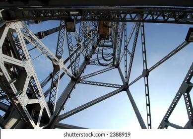 Photo of tower from Bridge 21 in Port Colborne, Ontario.