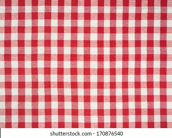Photo of a traditional Italian tablecloth as a background.